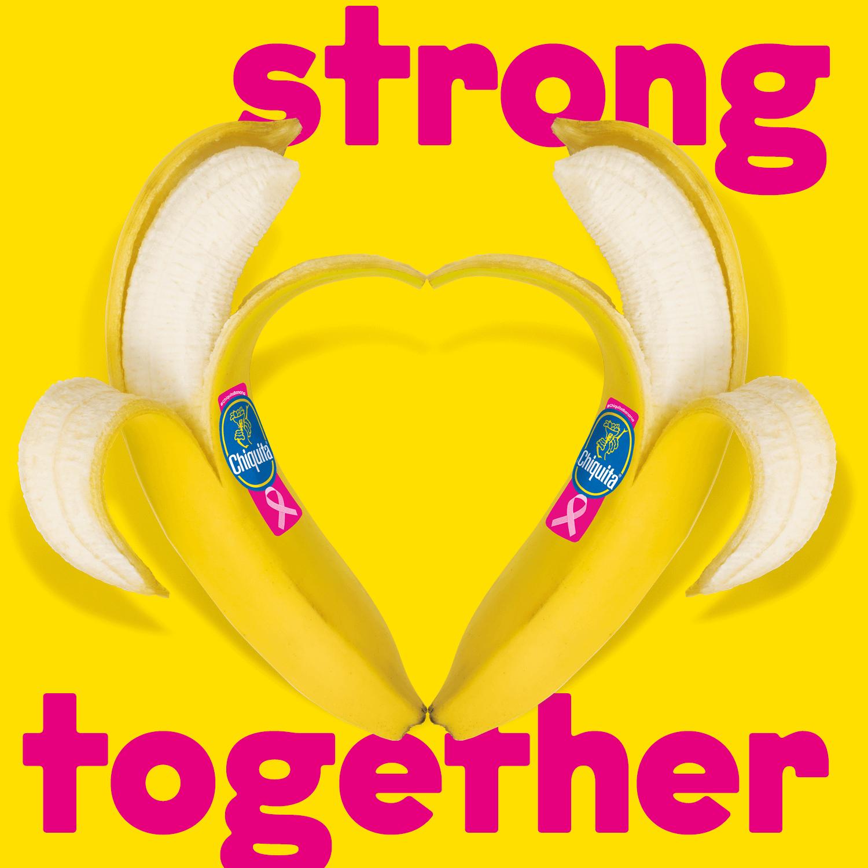 Niet blozen, wordt roze! Pink Sticker Chiquita