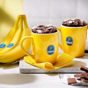 5-minuten-mugcake van Chiquita-banaan en Fudge S'mores
