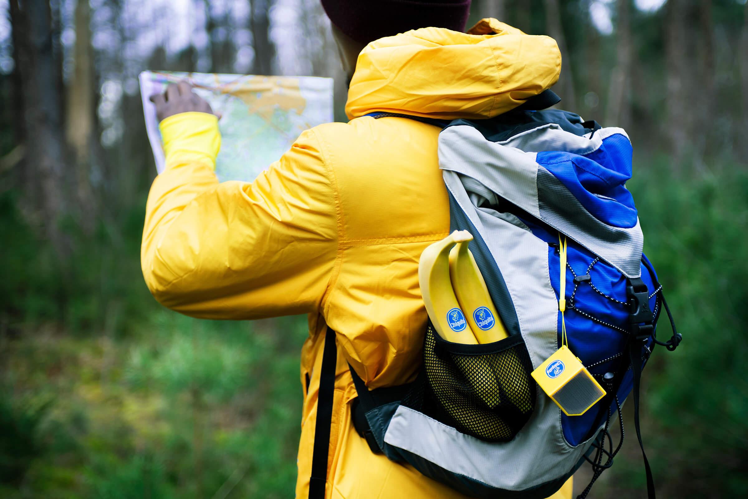 Maak het jezelf makkelijk en backpack met bananen