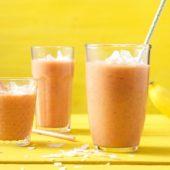 Bananen-en-wortel-smoothie met gember en kaneel