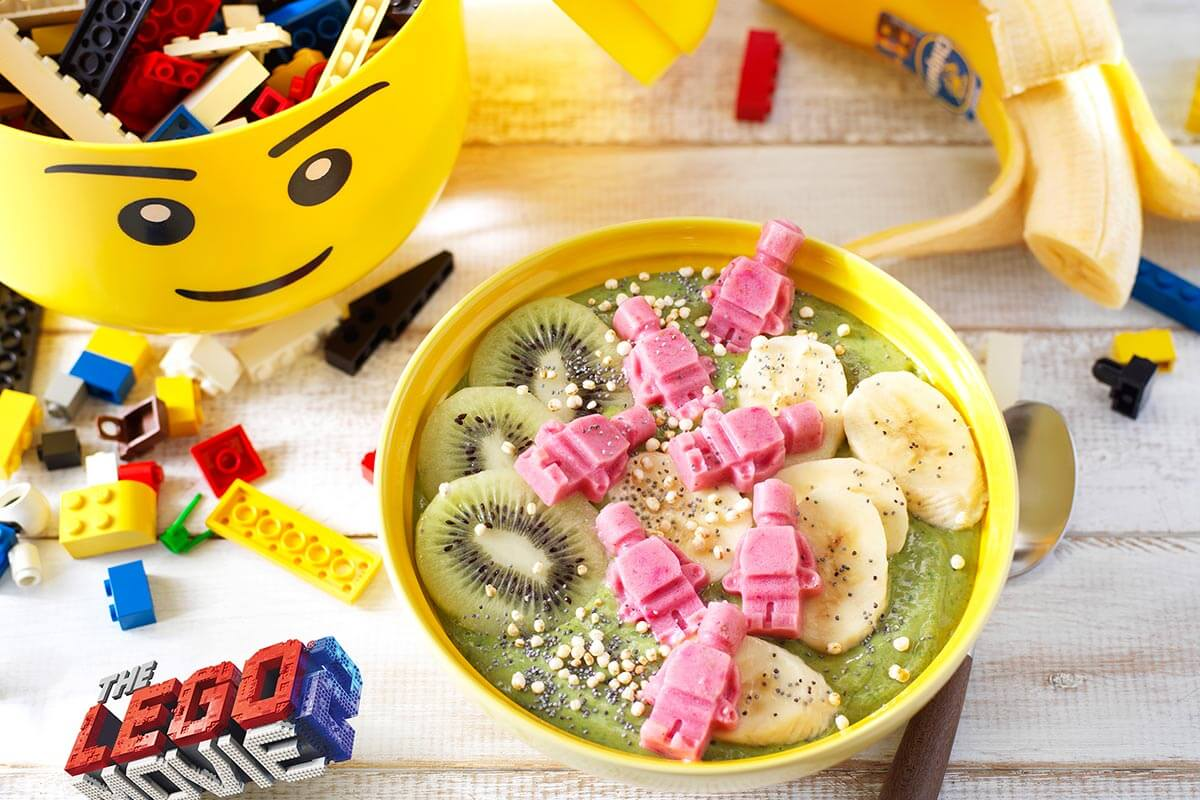 Banarnar matcha Chiquita-bananen smoothiekom