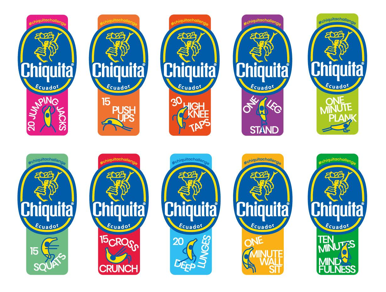Chiquita lanceert fitnessstickers om gezondheid en welzijn te stimuleren - 1