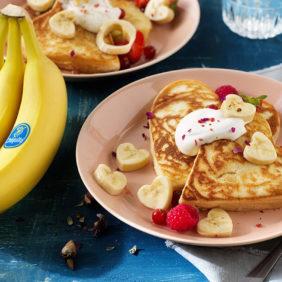 Chiquita-bananenpannenkoeken voor Valentijnsdag