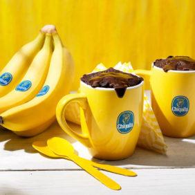 Brownie in een beker met Chiquita-banaan