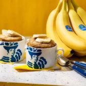 Gemakkelijk broodje in beker met Chiquita-banaan