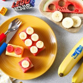 Chiquita-banaan Emmet-fruitstenen van Bricksburg