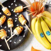 Spookijsjes met Chiquita banaan en een yoghurtlaagje voor Halloween
