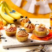 Halloween pompoenmuffins met Chiquita banaan