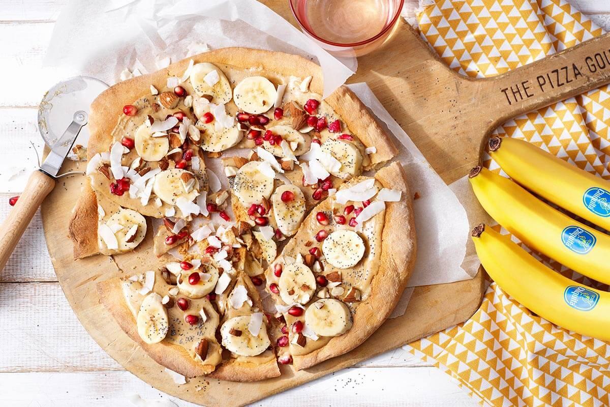 Gezonde zoete pizza met Chiquita-banaan