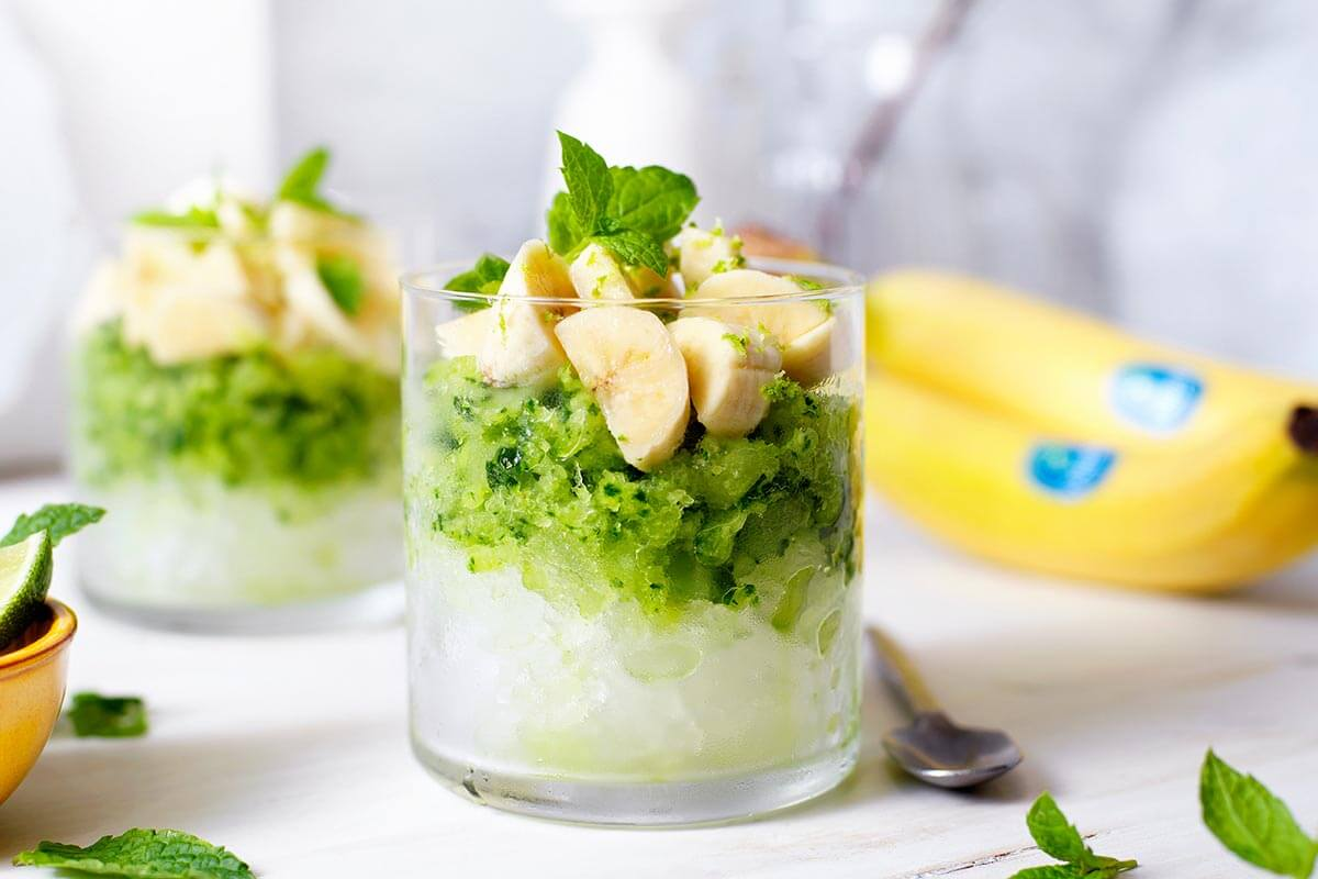 Gezonde komkommergranita met Chiquita-banaan en munt