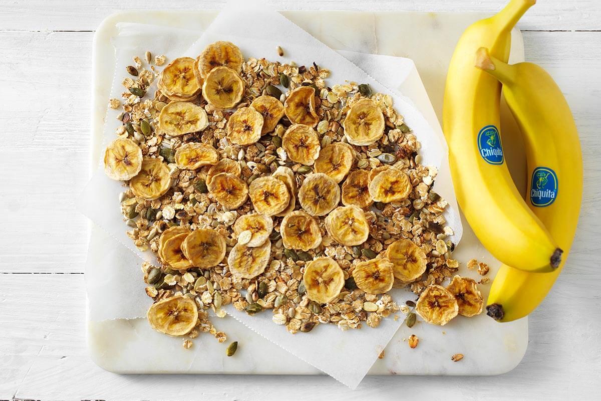 Zelfgemaakte Chiquita banaanchips