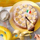 Snelle Griekse chocolade-calzone met noten en Chiquita banaan