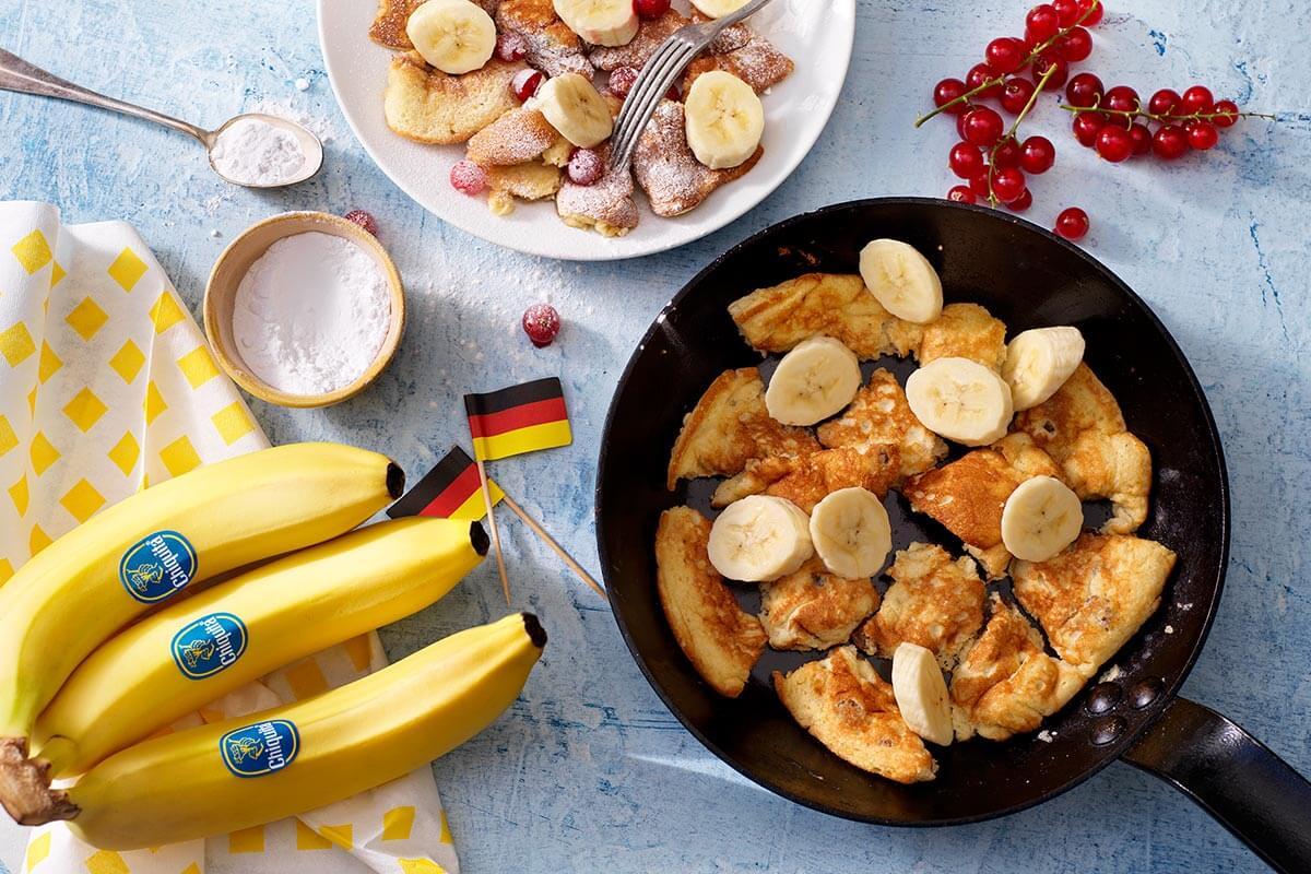 Kaiserschmarrn met Chiquita banaan en rode bessen