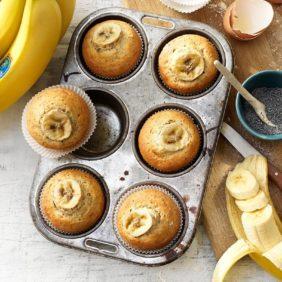 Citroenmuffins met chia zaden , Chiquita-banaan