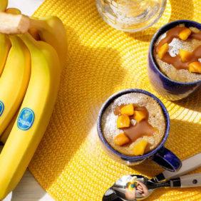 Mugcake met pompoen en Chiquita-banaan