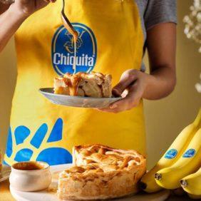 Taart met Chiquita-banaan en karamel