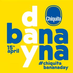 Vier Chiquita-bananendag