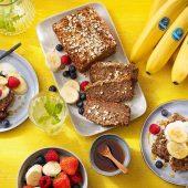 Havermout- en Chiquita-bananenbrood
