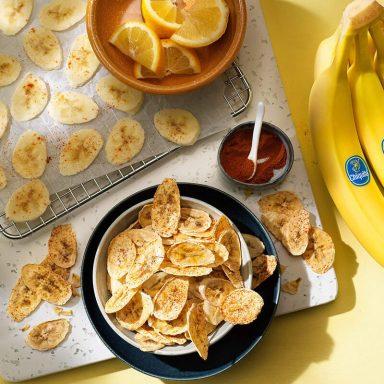 Gezonde gebakken Chiquita-bananenchips