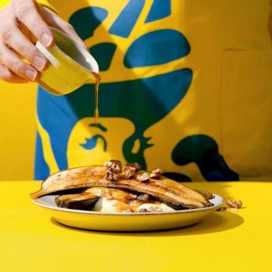 Snel gegrilde Chiquita bananen
