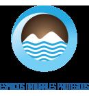 Logo met Blauwe Vlag