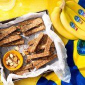 Wat eten voor sporten: Eiwitrepen van Chiquita-bananen met noten
