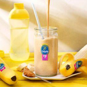 Warming-up shake met pindakaas en Chiquitabanaan