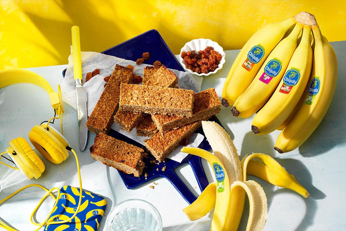 Eiwitrepen van Chiquita bananenbrood