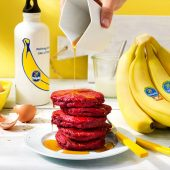 Wat eten na sporten: Sumosquat Chiquita bieten-bananenpannenkoekjes