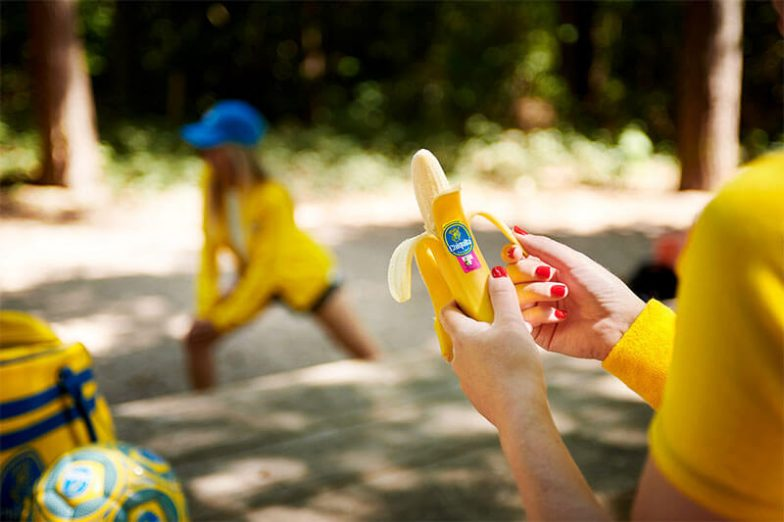 Warming-up fitness-stickers van Chiquita