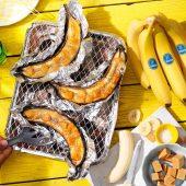 Gekarameliseerde Chiquita bananen voor op de barbecue