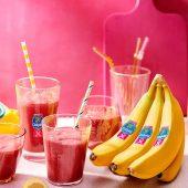 Chiquita bananensmoothie met wortelen, bietenpoeder, komkommer