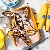 Chiquita bananen gevuld met chocolade en marshmallows voor op de barbecue
