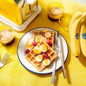 Veganistische Chiquita-bananenbroodwafels