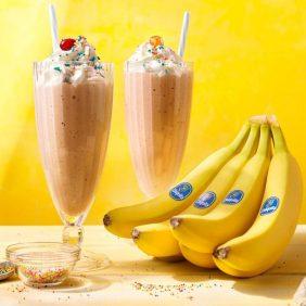 Vintage vanille milkshake met Chiquita banaan