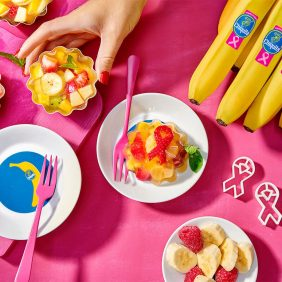 Gezonde fruitpuddingsalade met Chiquita banaan