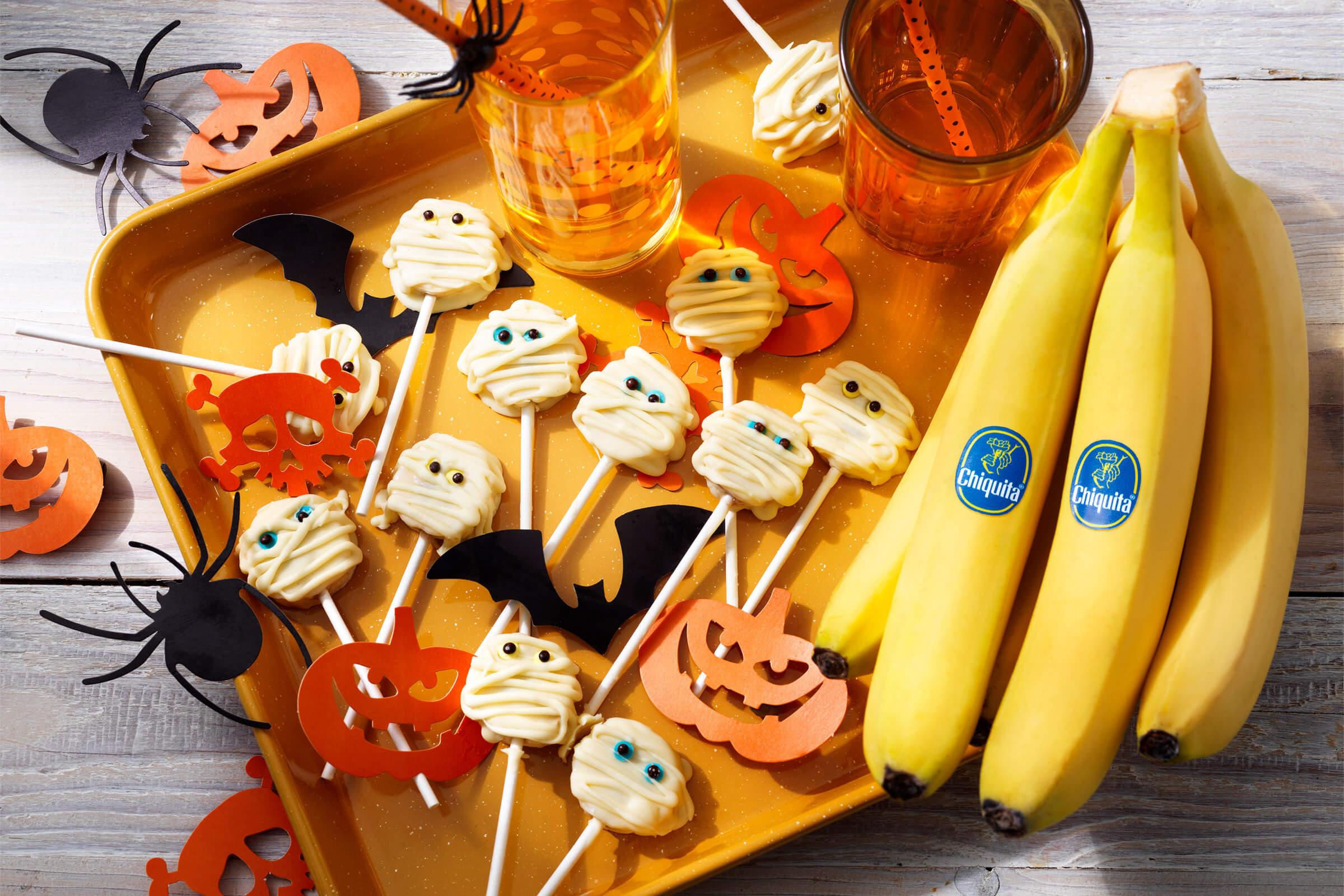 Halloweenpoppetjes van Chiquita bananen