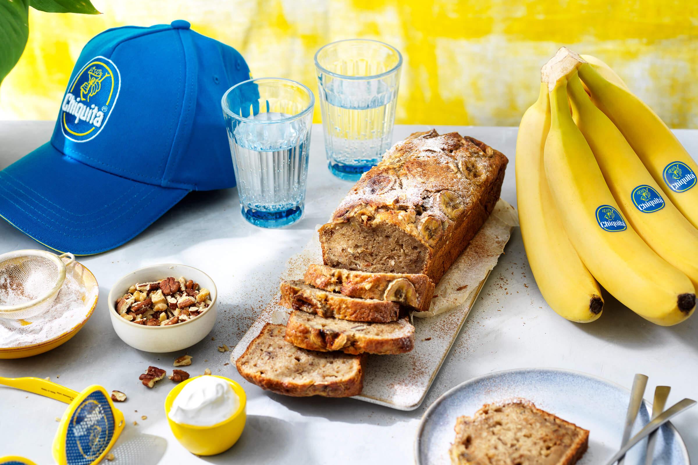 Eenvoudig brood van overgebleven Chiquita bananen