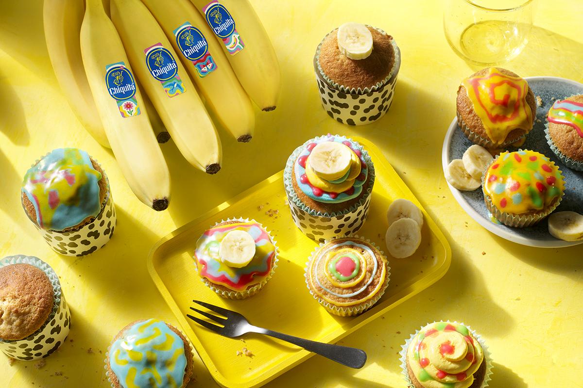 Artistieke cupcakes met Chiquita bananen