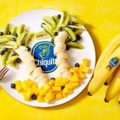 Palmboom van Chiquita banaan, kiwi en mango