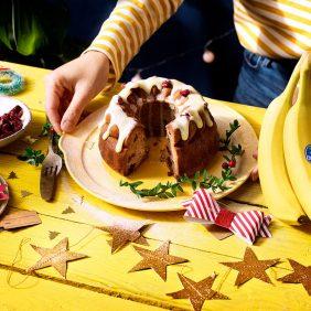 Smeuïg kerst bananenbrood van Chiquita