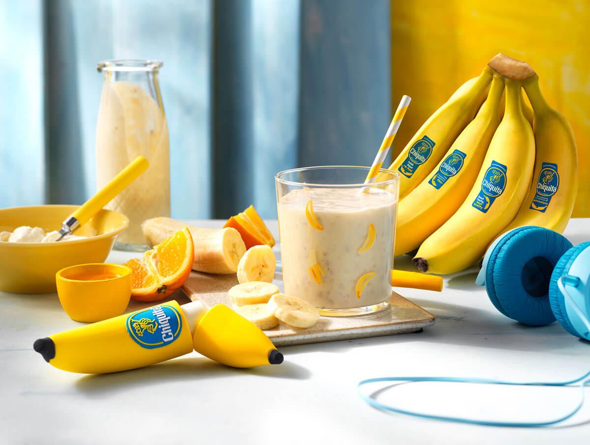 Chiquita bananensmoothie met sinaasappel en honing