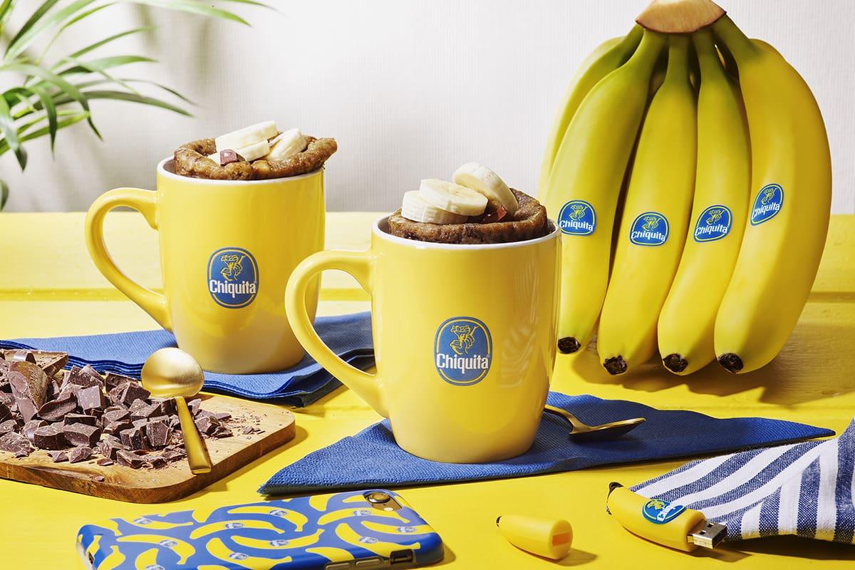 Chiquita-bananencake in een mok