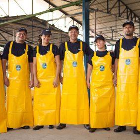 Achter de blauwe sticker: onze medewerkers