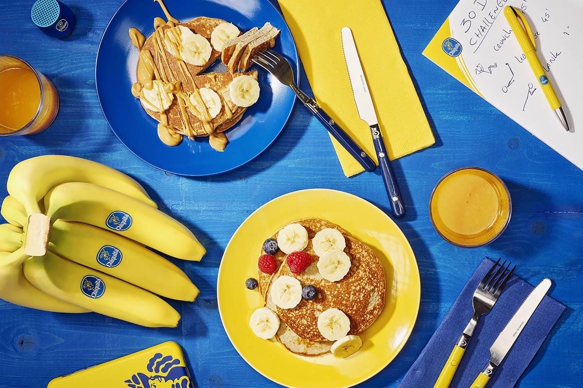 Bananen-eitwitpannenkoeken voor na het sporten