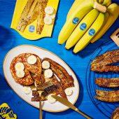 Veganistische bacon van bananenschillen van Chiquita