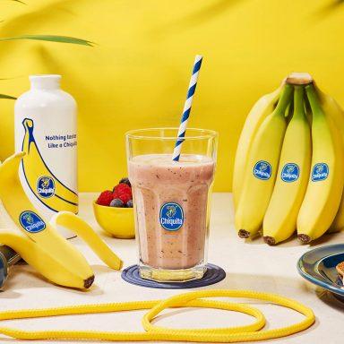 Work-out eiwitsmoothie met banaan en bessen van Chiquita